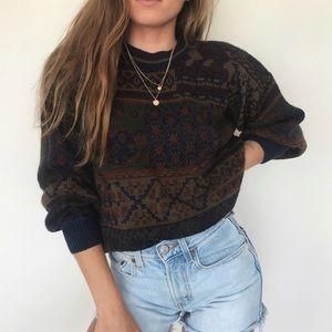 [Vintage] chunky crewneck sweater